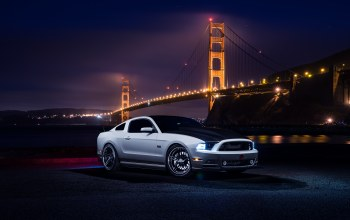 Muscle,nigth,White,top,car,river,Collection,bridge