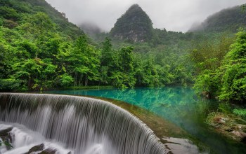 guizhou,либо,china,Libo county,водопад,китай