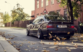 осень,Bmw,car,stance,autumn