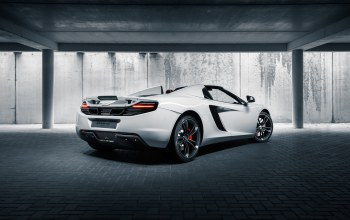 back,supercar,Mclaren,british,mp4-12c,White