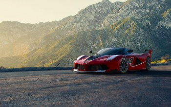 fxx k,Red,Sunset,Race,moutian,supercar,Road