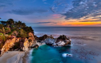 california,mcway falls,Big sur,pacific ocean,julia pfeiffer burns state park