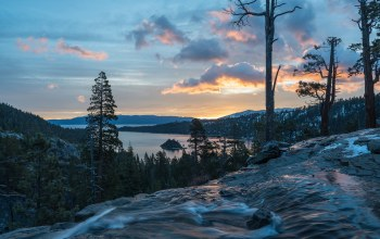 водопады игл,california,emerald bay state park,Lake tahoe,Eagle falls