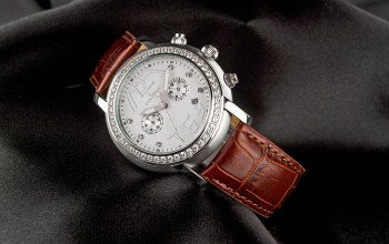 Jack pierre,leather and diamonds,Watch
