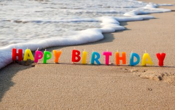 holiday,happy,birthday,beach,sand,congratulations