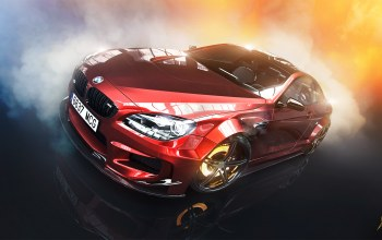 smoke,brake,prior design,car,Red,Bmw