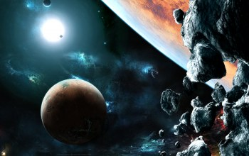 planets,asteroids,galaxies,lights,stones,rocks