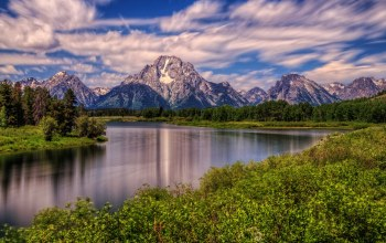 река снейк,wyoming,mount moran,Grand teton national park,snake river