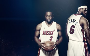 Lebron james,miami heat,heat,баскетбол,spalding,мяч,Dwyane wade