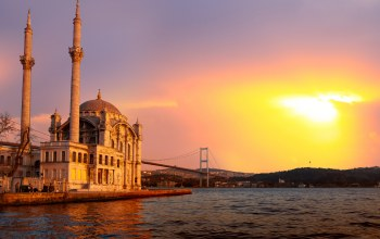 ortakoy mosque ,sea of marmara,Istanbul turkey,sunlight,beautiful,bosphorus bridge