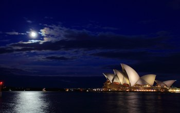 австралия,sydney,Australia,Opera house,harbour bridge,ночь