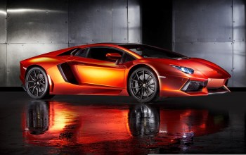 lamborghini aventador,orange,hq wallpaper,supercar