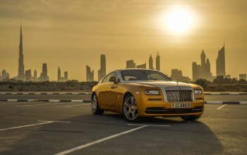 car,wraith,Gold,rolls-royce,Luxury,Cityscape