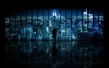 ночь,window to gotham city,new york city,The dark knight,окно,вид