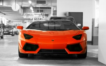авентадор,Lamborghini,orange