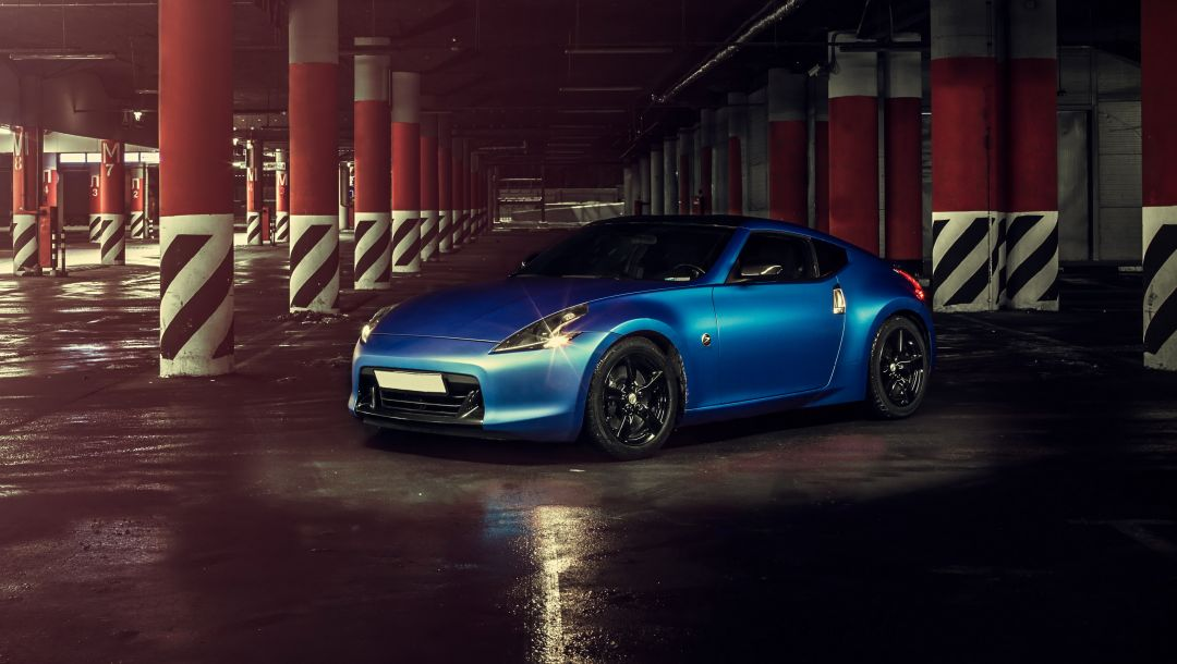 синяя,hq wallpaper,car,Nissan 370z