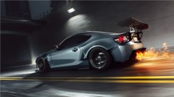 sport,car,burn,Scion,fr-s,Speed,rear,fire