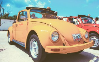vintage,Volkswagen,жук,beetle,car. vw,yellow