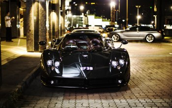 ночь,f,Luxury, supercar,передок,zonda