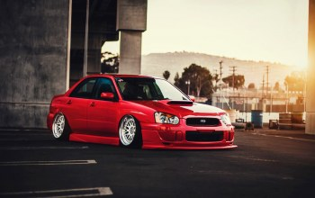 car,low,stance,Red,Color,wrx
