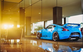 Nissan 370z,blue,car
