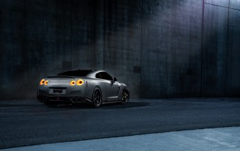 r35,grey,california,sport,Japan,car,dark,works,rear