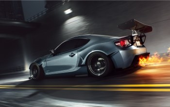 sport,rear,car,fr-s,fire,burn,Speed