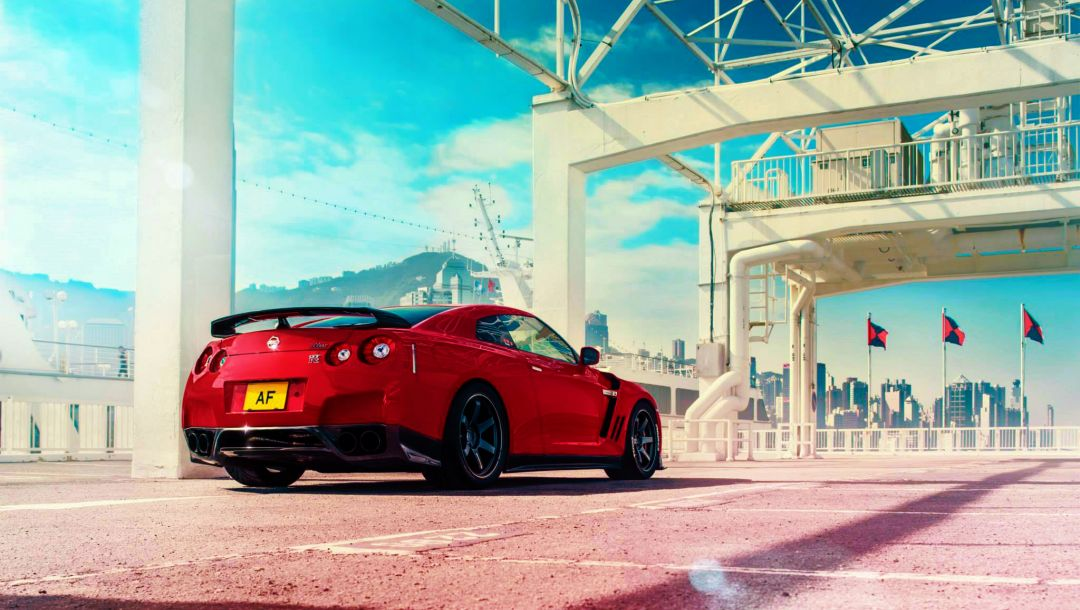 sport,rear,car,Japan,Red,sky,r35