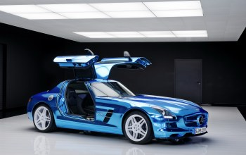 синий,drive,cars,electric,mercedes,blue,car