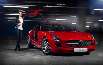 beauty,elmira abdrazakova,Door,girl,Red,supercar