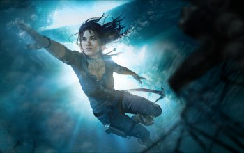 underwater,плывёт,lara croft,tomb raider