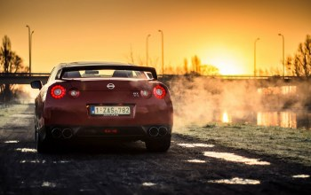 car,rear,back,sport,Red,Sunset,r35