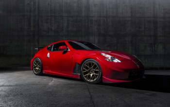 Nissan 370z,solid red,car