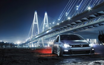 low,Volkswagen,bridge,golf r,car