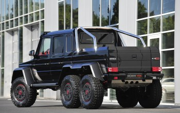 Brabus 700 6x6,g63,building,back, mercedes-benz,w463 amg