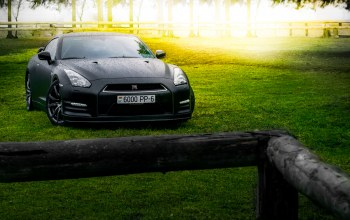 car,forest,Japan,summer,sport,r35,matte