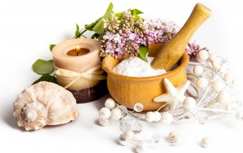 Spa,Seashells,цветы,shells,candle