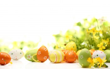 яйца,happy,decoration,Весна,цветы,Easter,eggs,spring