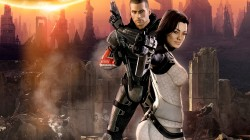 cg,Mass effect 2,miranda lawson,gamewallpapers,john shepard,джон шепард,bioware