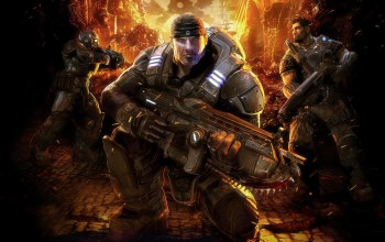 пушка,gears of war