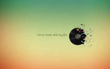 пластинка,Цвет,I love music and my life