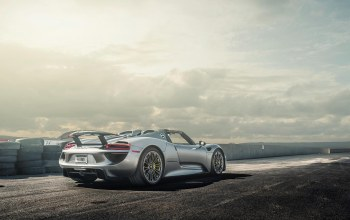 spoiler,spyder,porsche,view,918,rear,wheels