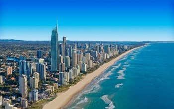 Aerial,Gold Coast Skyline,queensland,Australia