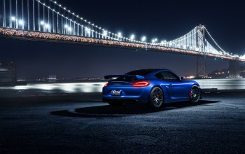 rear,porsche,car,cayman,sport,blue,bridge
