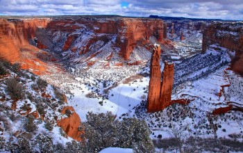 valley,winter,snow,mountain,canyon