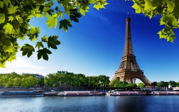 boat,france,eiffel,tower,paris,river,water