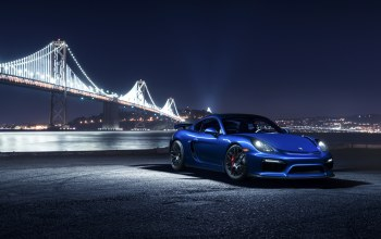 porsche,cayman,blue,car,bridge,sport