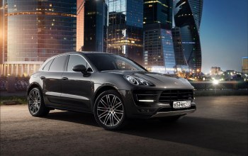 russia,macan,nigth,car,ligth,moscow-city,porsche