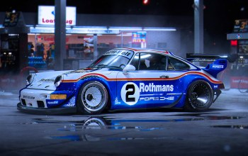 Race,by khyzyl saleem,porsche,rothmans,car,911,rwb