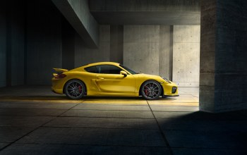 yellow,porsche,side,cayman,2015,supercar